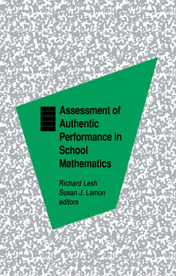 Assessment of Authentic Performance in School Mathematics book cover
