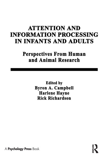 Attention and information Processing in infants and Adults Perspectives From Human and Animal Research book cover