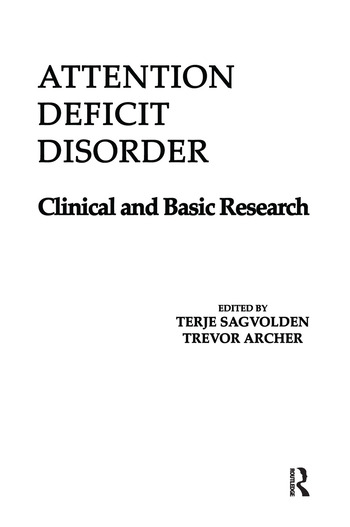 Attention Deficit Disorder Clinical and Basic Research book cover