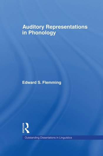 Auditory Representations in Phonology book cover