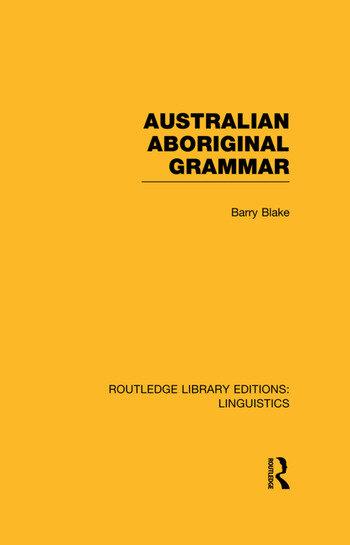 Australian Aboriginal Grammar book cover