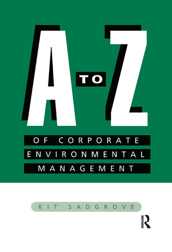 A-Z of Corporate Environmental Management book cover