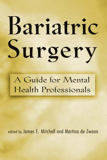 Bariatric Surgery A Guide for Mental Health Professionals book cover