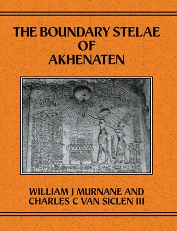 Boundary Stelae Of Akhentaten book cover