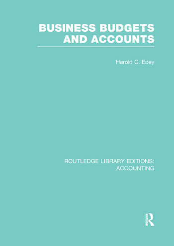 Business Budgets and Accounts (RLE Accounting) book cover