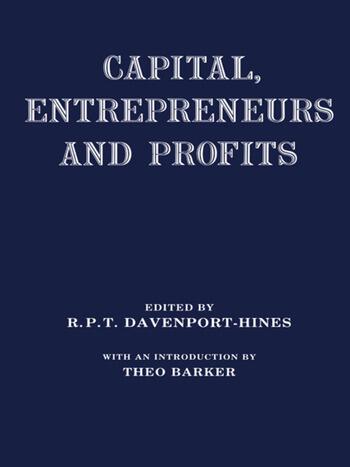 Capital, Entrepreneurs and Profits book cover