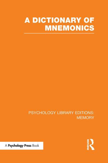 A Dictionary of Mnemonics (PLE: Memory) book cover