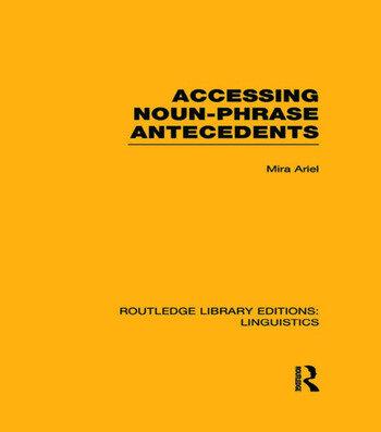 Accessing Noun-Phrase Antecedents book cover
