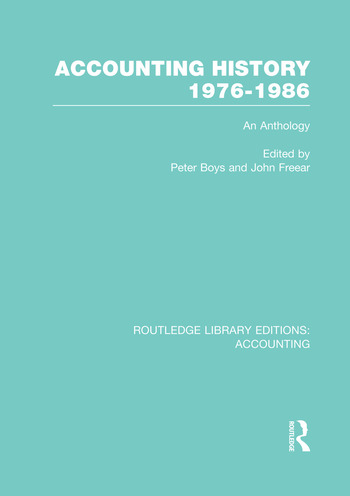 Accounting History 1976-1986 (RLE Accounting) An Anthology book cover
