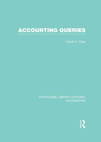 Accounting Queries (RLE Accounting) book cover