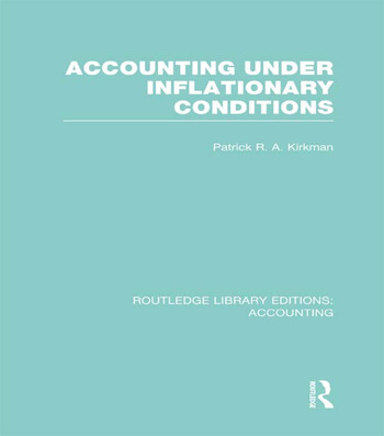 Accounting Under Inflationary Conditions (RLE Accounting) book cover