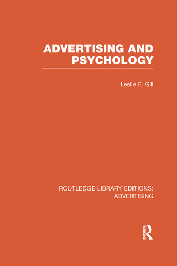 Advertising and Psychology book cover
