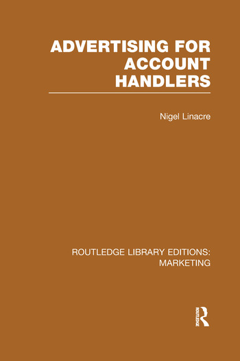 Advertising for Account Holders (RLE Marketing) book cover