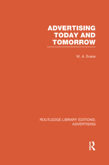 Advertising Today and Tomorrow book cover