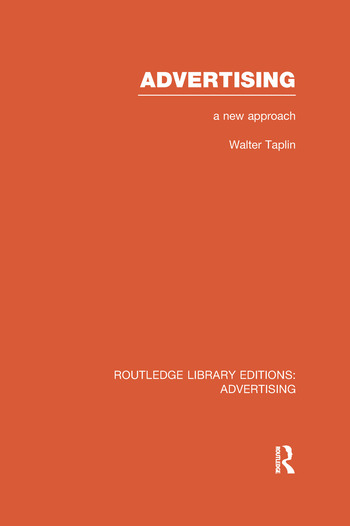 Advertising A New Approach book cover
