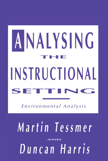 Analysing the Instructional Setting A Guide for Course Designers book cover