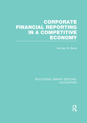 Corporate Financial Reporting in a Competitive Economy (RLE Accounting) book cover