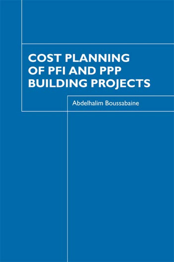 Cost Planning of PFI and PPP Building Projects book cover