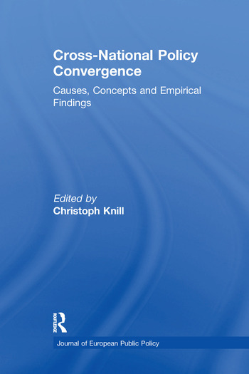 Cross-national Policy Convergence Concepts, Causes and Empirical Findings book cover