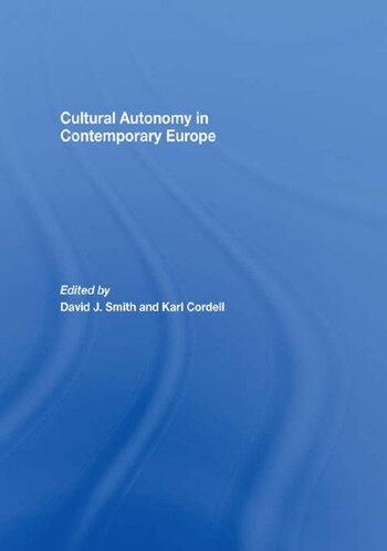Cultural Autonomy in Contemporary Europe book cover