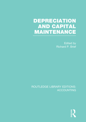 Depreciation and Capital Maintenance (RLE Accounting) book cover