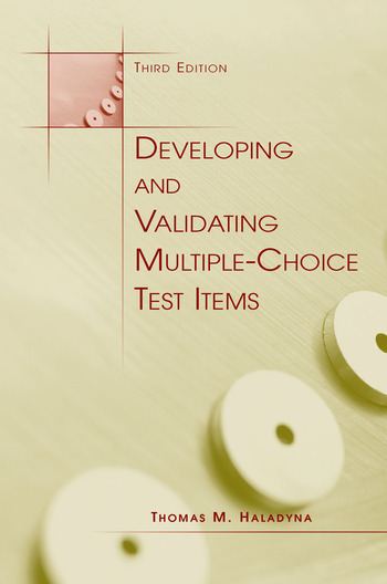 Developing and Validating Multiple-choice Test Items book cover