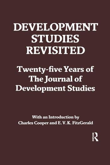 Development Studies Revisited Twenty-five Years of the