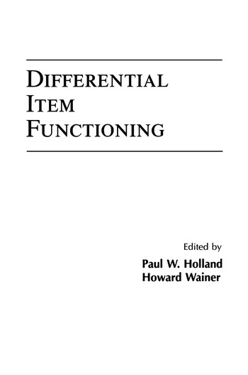 Differential Item Functioning book cover