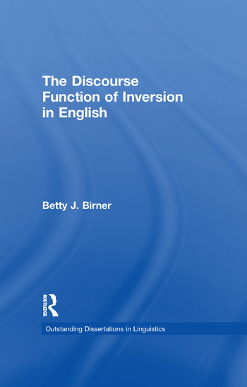 The Discourse Function of Inversion in English book cover