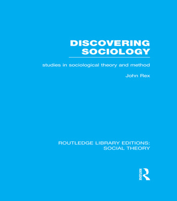 Discovering Sociology Studies in Sociological Theory and Method book cover
