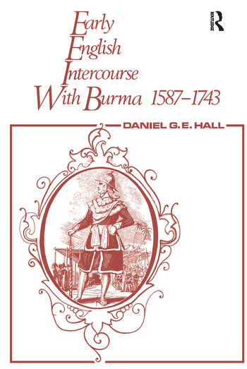 Early English Intercourse with Burma, 1587-1743 and the Tragedy of Negrais book cover