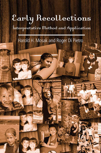 Early Recollections Interpretive Method and Application book cover