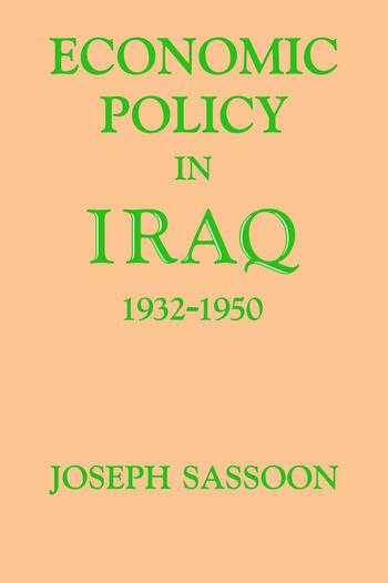 Economic Policy in Iraq, 1932-1950 book cover
