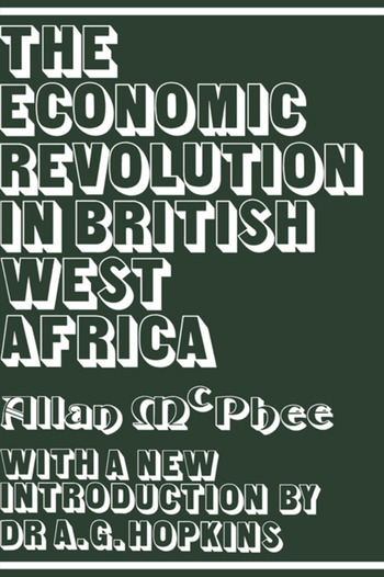 The Economic Revolution in British West Africa book cover