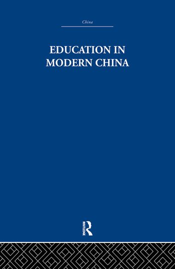 Education in Modern China book cover