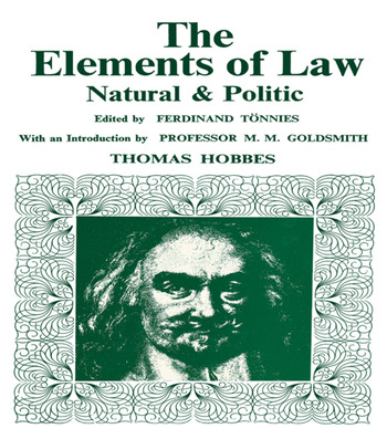 Elements of Law, Natural and Political book cover
