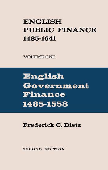 English Public Finance English Government Finance book cover