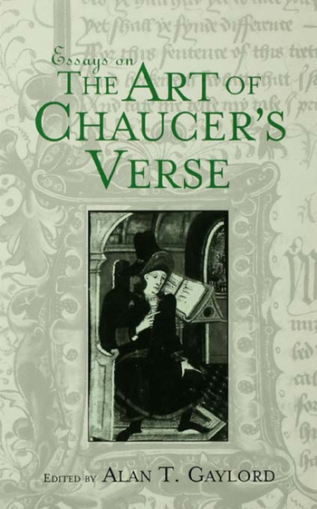 Essays on the Art of Chaucer's Verse book cover