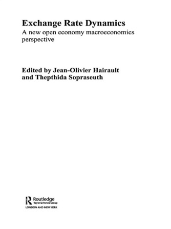 Exchange Rate Dynamics A New Open Economy Macroeconomics Perspectives book cover