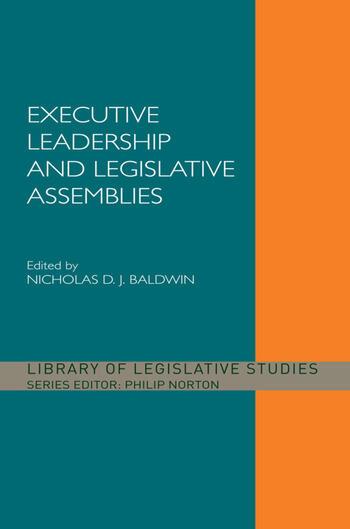Executive Leadership and Legislative Assemblies book cover