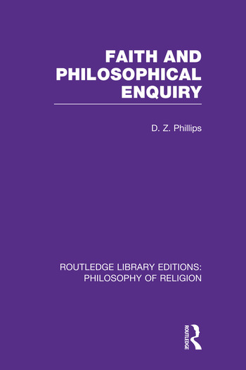 Faith and Philosophical Enquiry book cover
