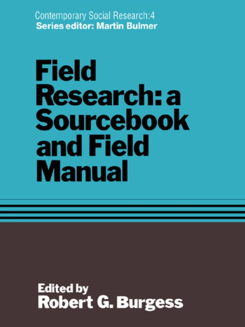 Field Research A Sourcebook and Field Manual book cover