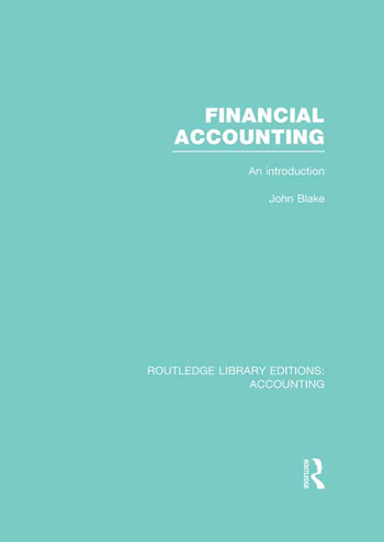Financial Accounting (RLE Accounting) An Introduction book cover