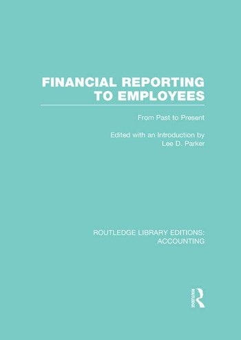 Financial Reporting to Employees From Past to Present book cover