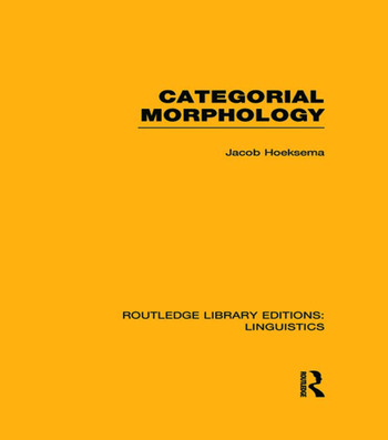 Categorial Morphology book cover