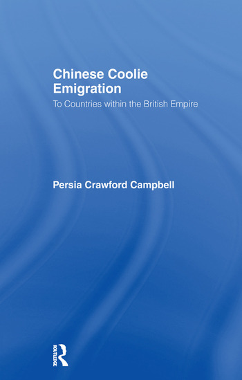 Chinese Coolie Emigration to Canada book cover