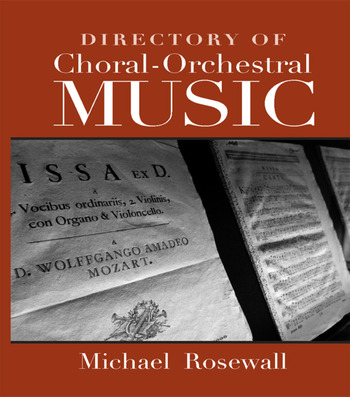 Directory of Choral-Orchestral Music book cover