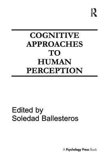 Cognitive Approaches to Human Perception book cover