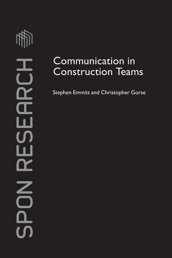 Communication in Construction Teams book cover
