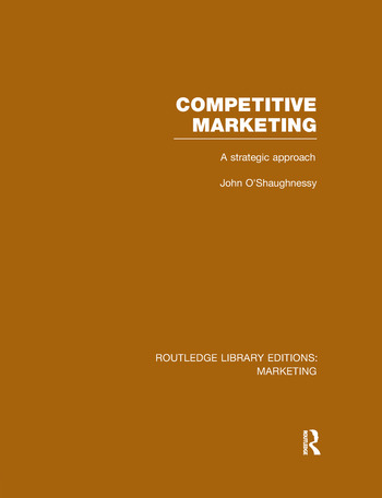 Competitive Marketing (RLE Marketing) A Strategic Approach book cover